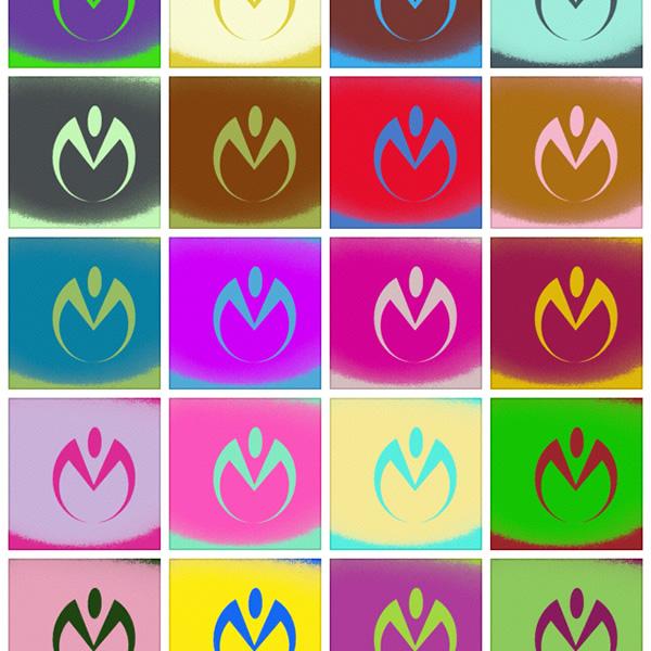 杜王町のロゴマークの色を考察中。